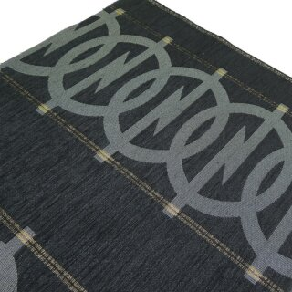 Oldtimerstoff schwarz mit Opel Logo für Manta & Ascona 400